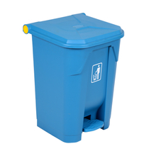 Supermarket 60L Plastic Trash Can with Lid