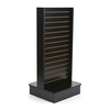 2 Side Freestanding Retail Slatwall Systems Wooden Slat Wall Shelving