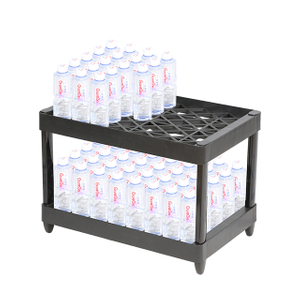2 Tier Plastic Floor Bottle Cola Display Exhibition Stand Rack
