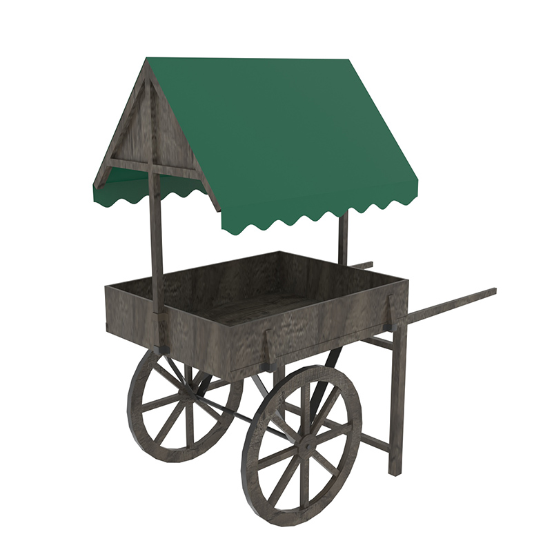 Wagon Style Display Cart
