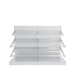 Wall Unit Metal Shelf for Fruit And Vegetable Display in Supermarket