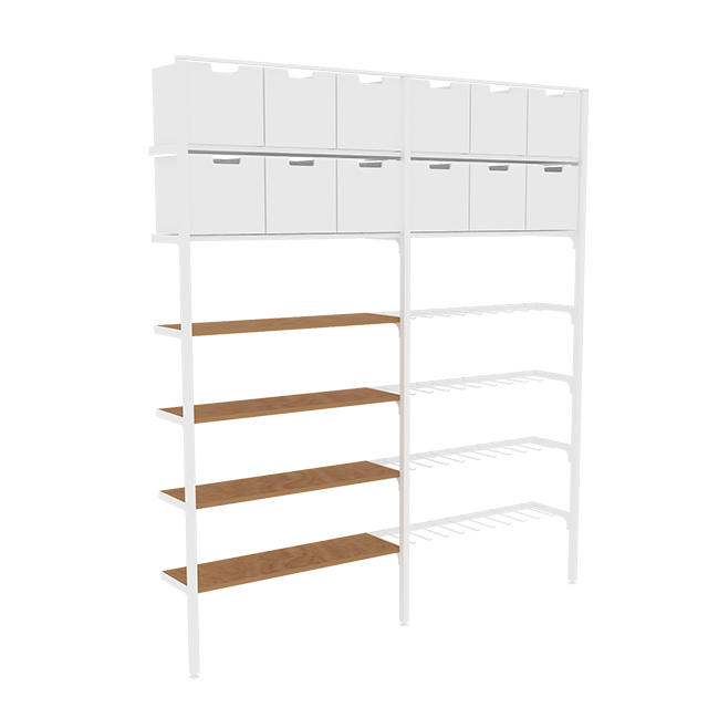Display Shelf Wall Unit for Beauty Store
