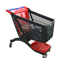 2018 July New plastic shopping cart P-12A210L