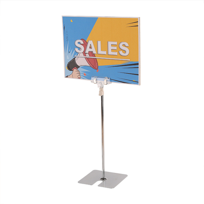 Clip Table Top Sign Holder