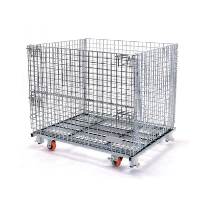 Wire Mesh Foldable Roll Pallet Cage