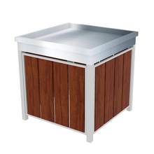 Supermarket Metal And Wood Orchard Bin