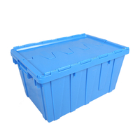 Plastic Stackable Crate Attached Lid Container NLB-5