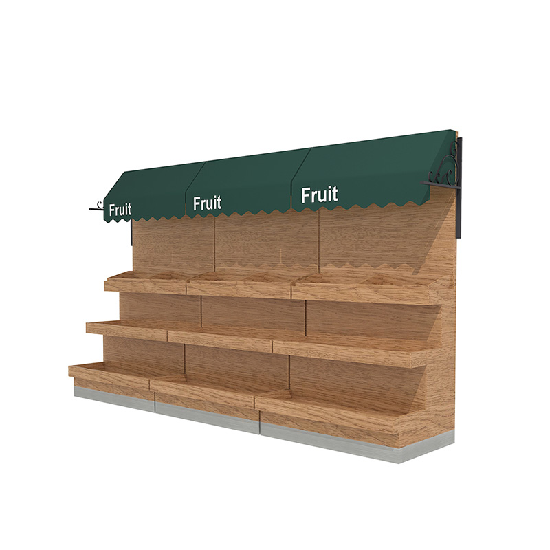 Wooden Display Shelf for Fruit And Vegetable