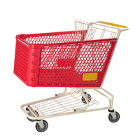 Plastic Shopping Cart P-4(180L)
