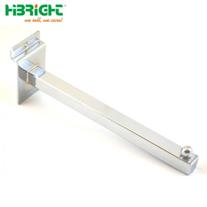 Garment Hanger Slatwall Straight Arms Square Tube