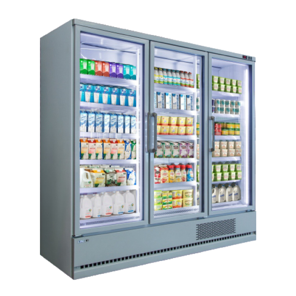 Plug-in Vertical Multi-deck Daily Refrigerated -1~7℃ Chiller with Glass Door