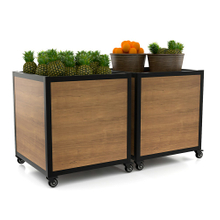 Height Adjustable Fruit And Vegetable Display Stand