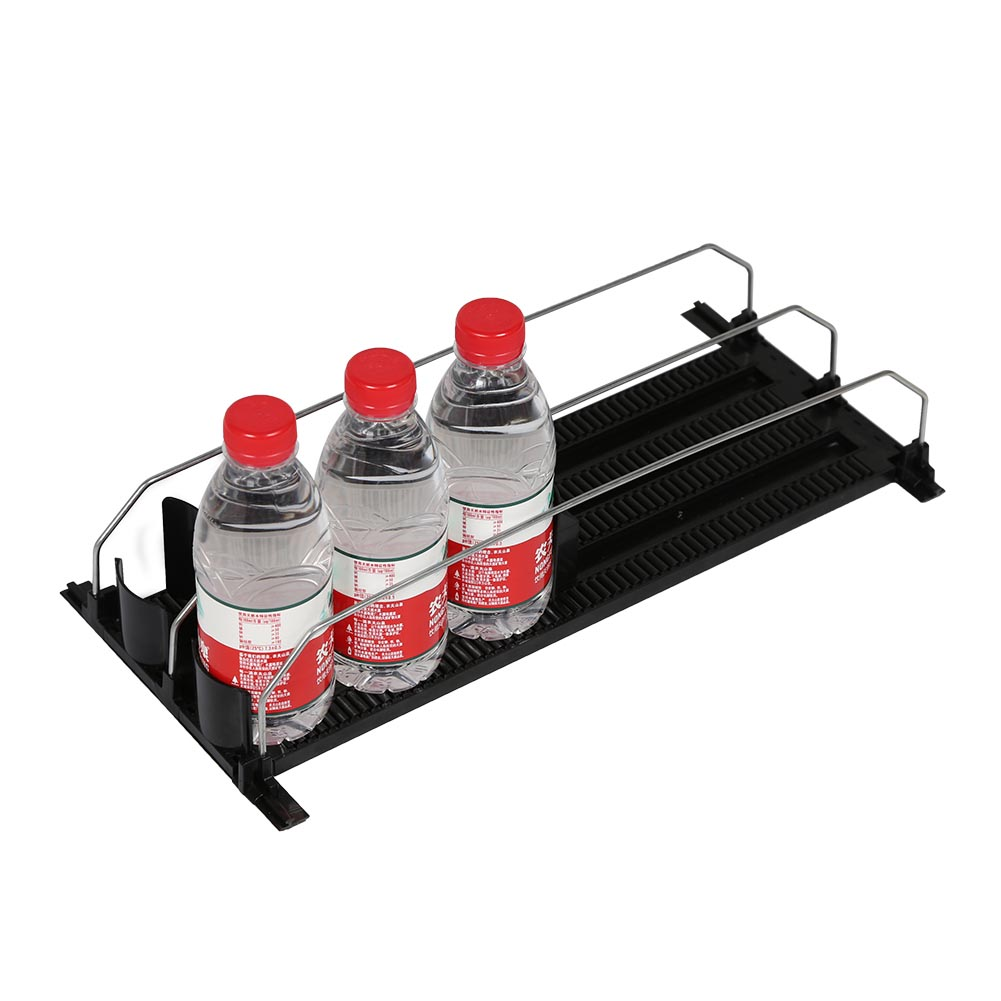 Front-feeding Modular Trays Shelf Solutions Slow Motion Wire Divider Pusher for Glass Jars Bottles Cans Non-flat Surfaces