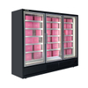 Plug-in Vertical Multi-deck <-18℃ freezer with 3 Glass Door